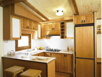 Mobil home casas prefabricadas acabado r stico - Interiores de casas prefabricadas ...