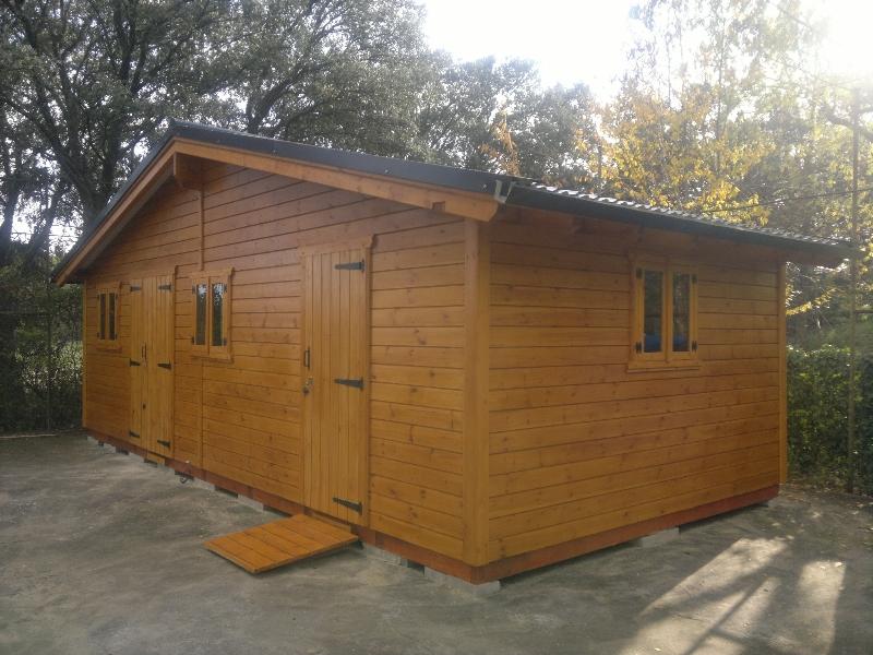 Casetas de madera casas m viles jarama madrid san - Casetas de jardin de segunda mano ...